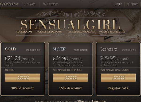 Sensual Girl Membership Discount