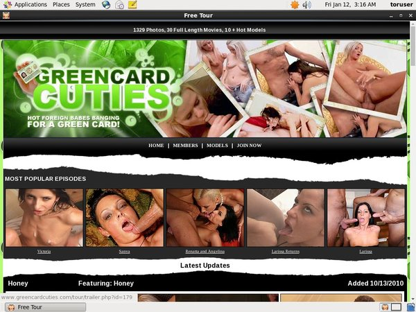 Green Card Cuties Pics