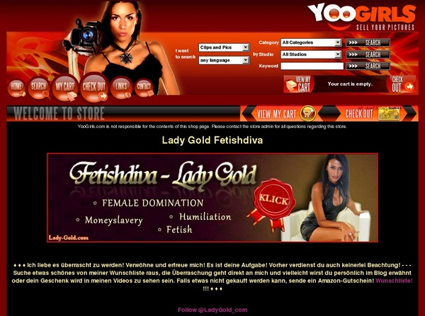 Lady Gold Fetishdiva Discount Signup