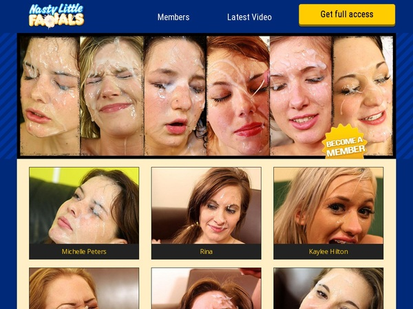 Nasty Little Facials Account For Free