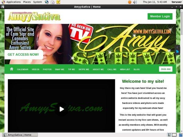 Free Working AmyySativa Account